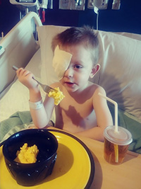 Mac and Cheese after surgery Jude