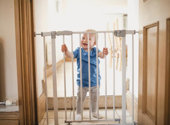 baby behind bars